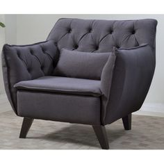Madison Home USA Mid Century Modern Linen Arm Chair & Reviews | Wayfair
