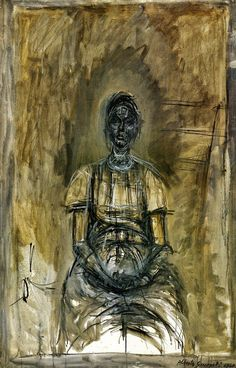 Alberto Giacometti Portrait of Caroline OIL Alberto Giacometti, Figure Painting, Figure Drawing, Painting & Drawing, Giacometti Paintings, Modern Art, Contemporary Art, Figurative Kunst, Art Moderne