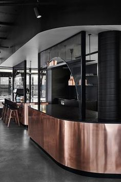 Jamu restaurant review - Melbourne, Australia | Following the interior aesthetic, the food that emerges from the open kitchen is just as contemporary with dishes, like tom yum gazpacho and ceviche served with tamarind, pineapple and rice paddy herb #food #restaurants #interiors #design #copper #melbourne