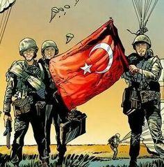 BAYRAK iNMEZ! O Bayrağı 57. Alayın Son ferdi şehit düşerken; Mehmetçik can verirken bile bir Çalıya astı, yine de yere düşürmedi!..
