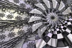 """""""Etched""""  3d fractal art Mandelbulb 3d Paul Griffitts http://www.frackxion.com"""