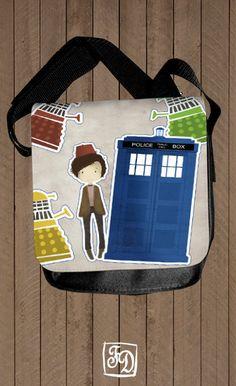 Doctor Who and the Daleks - shoulder bag. $30.00, via Etsy.