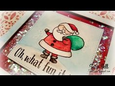 Curl E. Cue's : VIDEO: Handmade Holiday 2015: Day 1 ~ CTMH Edition Santa in Watercolor