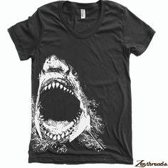 Camiseta mujer tiburón ropa americana camiseta S M L por ZenThreads