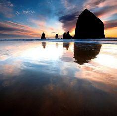 Canon Beach Haystack Rock, Oregon - My favorite beach.