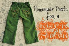 When I have kids, they will be such hippies.. or at least dressed like one :) I love these Homemade Pants for a ROCK STAR cords :)