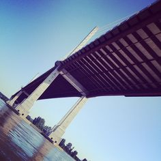 #golden #ears #bridge #langley #bridge #fraiser #river #boating #underneather #sunny #pretty - @emcardle- #webstagram