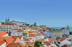 Looking For cheap flights to Lisbon ? About Lisbon : Lisbon is Portugal's hilly, coastal capital city. From imposing São Jorge Castle, the view encompasses the old city's pastel-colored buildings, Tagus Estuary and Ponte 25 de Abril suspension bridge. Budapest, Visit Portugal, Spain And Portugal, Portugal Travel, Best Places To Retire, Places To Visit, Voyage Europe, Work Travel, Travel Tips
