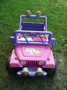 Her car was a Barbie Jeep when she was 3 Barbie Power Wheels, Power Wheels Jeep, 90s Kids, The Good Old Days, Jeep Wrangler, Get One, Childhood Memories, Baby Items, Barbie Cars
