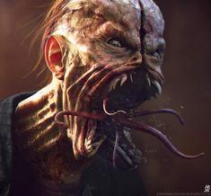 10 Modern Horror Gems You Can Stream Right Now — Strange Harbors Fantasy Monster, Monster Art, Arte Horror, Horror Art, Creature Feature, Creature Design, Creepy Art, Scary, Creepy Stuff