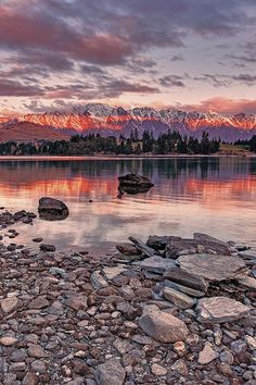 Sunset at Queenstown New Zealand