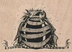 craft rubber stamp large rooster steampunk by pinkflamingo61