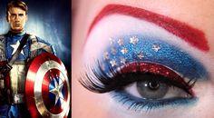 キャプテン・アメリカメイク。  自分が女性だったらこんな事したいかも…