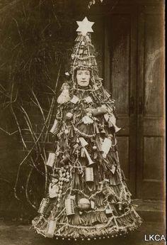 weirdvintage: Christmas tree costume, Victorian era (via)