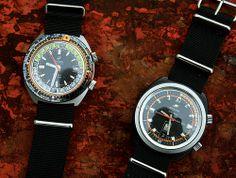 cf80083287b Enicar Sherpa Guide Super Dive. Relógios Antigos ...