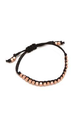 Shashi Rose Gold Nugget Bracelet