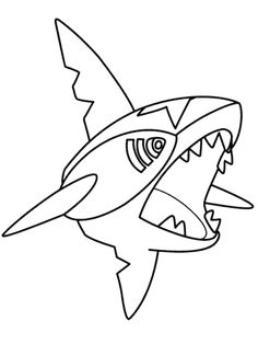 Sharpedo Pokemon Coloring Page