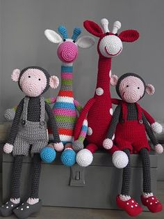 cute crochet animals - Click image to find more DIY & Crafts Pinterest pins
