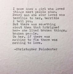 Every man she ever loved - Christopher Poindexter