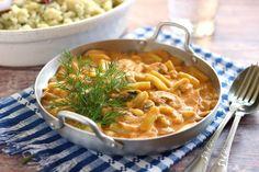 Egy finom Zöldbabos gombapaprikás kapros nokedlivel ebédre vagy vacsorára? Zöldbabos gombapaprikás kapros nokedlivel Receptek a Mindmegette.hu Recept gyűjteményében! Thai Red Curry, Macaroni And Cheese, Ethnic Recipes, Food, Meatless Recipes, Lasagna, Mushrooms, Red Peppers, Mac And Cheese
