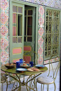 Patio collation, chambre d'hôtes La Chambre bleue.