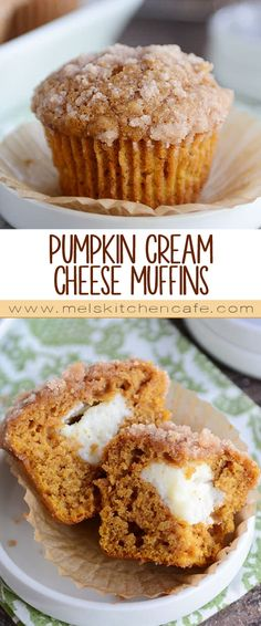Pumpkin and cream cheese were meant to be together…and these amazingly delicious pumpkin cream cheese muffins prove it! Light and fluffy, the pumpkin muffin is perfection, and that delightful cream cheese center is like the icing on the cake.