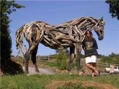 Mot-clé - bois flotté - Hippotese, Le cheval de Travail