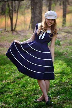 Sailor Dress - soooo cute.