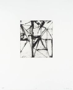Brice Marden Etchings to Rexroth, 18 1986 Etching with aquatint on Rives BFK Image size: 8 x 6 inches x cm) Paper size: 19 x 15 inches x cm) Edition of 45 Signed in pencil, dated and inscribed 'PP annotated 18 Painting Collage, Action Painting, Painting & Drawing, Abstract Geometric Art, Abstract Drawings, Art Archive, Frank Stella, Monochrom, Elements Of Art