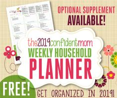 Your 2015 Confident Mom Weekly Household Planner - Upcycled Crafts Planners, Weekly Planner, 2015 Planner, Arc Planner, Blog Planner, Home Management Binder, Planning Your Day, Homemade Christmas Gifts, Upcycled Crafts