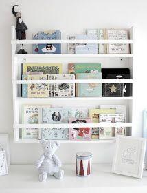Tallrikshylla för böcker
