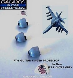 Jet Fighter Grey Guitar Finger Protector Guitar Fingers, Guitar Rack, Unique Guitars, Racking System, Guitar Accessories, Fighter Jets, Usa, Grey, Products