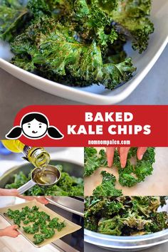 Baked kale chips are a simple, tasty, and healthy snack that you can easily make at home for the whole family! Once you start munching on them, you won't want to stop! Nom Nom Paleo, Paleo On The Go, Going Paleo, Making Kale Chips, Vegetable Chips, Paleo Life, Healthy Snacks, Protein Snacks, Healthy Breakfasts