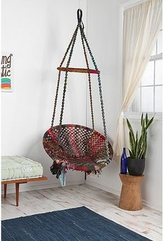 This Would Be Awesome In My Sunroom Chair Swing Swinging Papasan