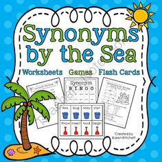 Synonyms By The Sea - I am so ready for sunny weather! I hope this Synonyms by the Sea set brightens your day!.  A GIVEAWAY promotion for Synonyms by the Sea packet: worksheets