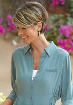 hair cuts for thin staight hair for women over 50 | photograph below, is other parts of Short Haircuts for Fine Hair ...