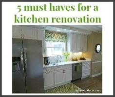 Green With Decor - 5 must haves in a kitchen renovation