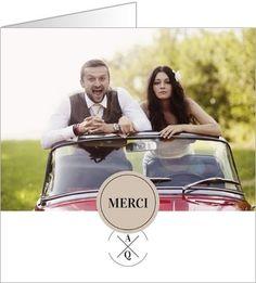 carte de remerciement mariage hipster vintage disponible en 4 formats et personnaliser sur popcarte - Remerciement Mariage Personne Absente