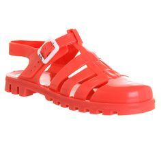 d827476267f5f JuJu Maxi Low Jelly Shoes Coral - Sandals