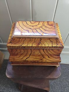 Maitland-Smith Hand Lacquered Wooden Tea Caddy Box, 1980 2