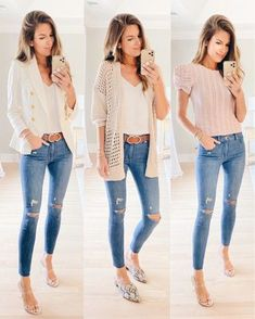 late summer outfits with skinny jeans -- click this PIN to shop!   pinterestingplans | LIKEtoKNOW.it Late Summer Outfits, Casual Fall Outfits, Business Casual Outfits, Stylish Outfits, Spring Outfits, Denim Outfit, Pants Outfit, Denim Pants, Denim Shirt