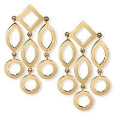 Cassandra Goad Temple of Heaven girandole pendant earrings in yellow gold