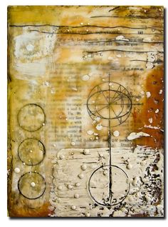 . . . so wanting to learn encaustic painting [pigmented wax] - so textured