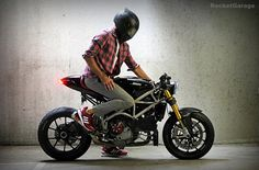 Ducati 1098 Cafe Racer by Nathan Stiles, a reader like you, he wanted to show her motorcycle , a...