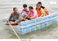 They said we could do anything. So we built a boat out of water...