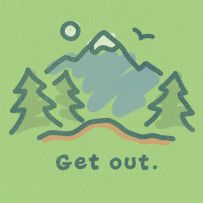 """Get out."" gotta love Life Is Good tee shirts :) #Lifeisgood"