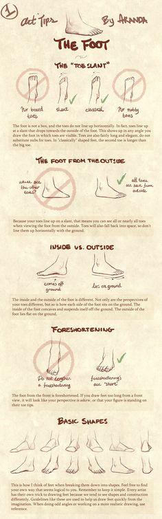 "art tips ""the foot"" by aranda  good guide to do feet :)"