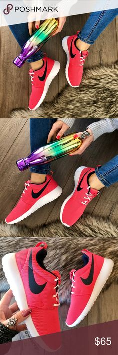 NWT🌺Nike Roshe one coral Brand new no box, price is firm!Everywhere you look, you can see ladies rocking a pair of women's Roshe Ones. They're one of the most versatile shoes from Nike. Wear them with or without socks, dress them up or down — the Roshe One can do it all. Its superior ventilation comes from the ultra-lightweight mesh textile or suede upper, offering you the breathability your feet need.  The full-length Phylon™ midsole provides all-day comfort and support. Nike sample shoes…