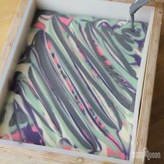 This beautiful Butterfly Swirl is inspired by the nonpareil paper marbling of old (not sure what a nonpareil pattern looks like? Check out the beautiful handmade paper that inspired this tutorial for a good example!). Four different tones create dynamic complex and rich patterns both on top of the soap and within the bars themselves. …