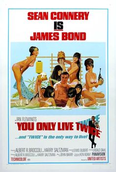 You Only Live Twice (1967)  James Bond Movie Poster https://www.youtube.com/user/PopcornCinemaShow